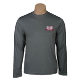 Syntrel Performance Steel Longsleeve Shirt-Troy Trojans Wide Shield