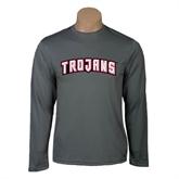 Performance Steel Longsleeve Shirt-Arched Trojans