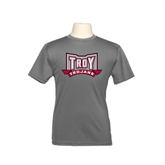 Youth Syntrel Performance Steel Training Tee-Troy Trojans Wide Shield