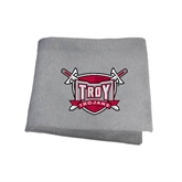 Grey Sweatshirt Blanket-Troy Trojans Shield