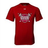 Under Armour Cardinal Tech Tee-Troy Trojans Shield
