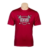 Syntrel Performance Cardinal Tee-Troy Trojans Shield