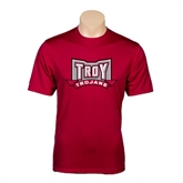 Performance Cardinal Tee-Troy Trojans Wide Shield