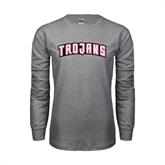 Grey Long Sleeve TShirt-Arched Trojans