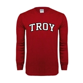Cardinal Long Sleeve T Shirt-Arched Troy