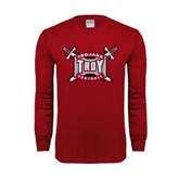 Cardinal Long Sleeve T Shirt-Football