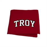 Cardinal Sweatshirt Blanket-Arched Troy