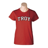 Ladies Cardinal T Shirt-Arched Troy