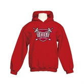 Youth Cardinal Fleece Hoodie-Troy Trojans Shield