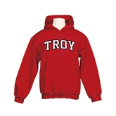 Youth Cardinal Fleece Hoodie-Arched Troy