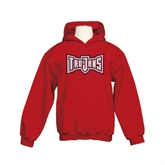 Youth Cardinal Fleece Hoodie-Trojans Shield