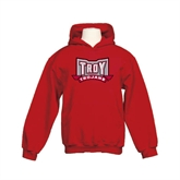 Youth Cardinal Fleece Hoodie-Troy Trojans Wide Shield
