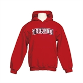 Youth Cardinal Fleece Hoodie-Arched Trojans