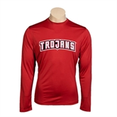 Syntrel Performance Cardinal Longsleeve Shirt-Arched Trojans