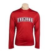 Performance Cardinal Longsleeve Shirt-Arched Trojans
