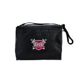 Koozie Six Pack Black Cooler-Troy Trojans Shield