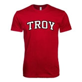 Next Level SoftStyle Cardinal T Shirt-Arched Troy