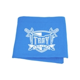 Light Blue Sweatshirt Blanket-Troy Trojans Shield