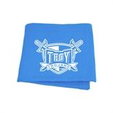 Light Blue Sweatshirt Blanket-Troy Trojans Shield