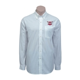 Red House White Long Sleeve Shirt-Troy Trojans Shield