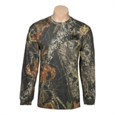 Realtree Camo Long Sleeve T Shirt w/Pocket-Troy Trojans Wide Shield