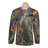 Realtree Camo Long Sleeve T Shirt w/Pocket-Troy Trojans Wide Shield