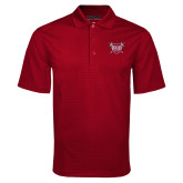 Cardinal Mini Stripe Polo-Troy Trojans Shield
