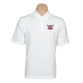 Nike Golf Tech Dri Fit White Polo-Troy Trojans Shield
