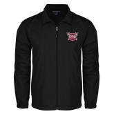Full Zip Black Wind Jacket-Troy Trojans Shield