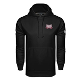 Under Armour Black Performance Sweats Team Hoodie-Troy Trojans Wide Shield