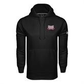 Under Armour Black Performance Sweats Team Hood-Troy Trojans Wide Shield