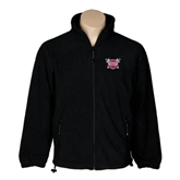 Fleece Full Zip Black Jacket-Troy Trojans Shield