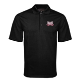 Black Mini Stripe Polo-Troy Trojans Wide Shield