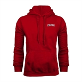 Cardinal Fleece Hoodie-Arched Trojans