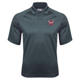 Charcoal Dri Mesh Pro Polo-Troy Trojans Shield