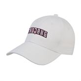 White Heavyweight Twill Pro Style Hat-Arched Trojans