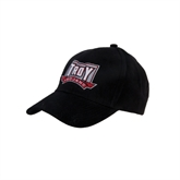 Black Heavyweight Twill Pro Style Hat-Troy Trojans Puff