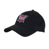 Black Heavyweight Twill Pro Style Hat-Troy Trojans Shield