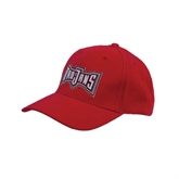 Red Heavyweight Twill Pro Style Hat-Troy Trojans