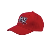 Red Heavyweight Twill Pro Style Hat-Trojans