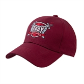 Cardinal Heavyweight Twill Pro Style Hat-Troy Trojans Shield