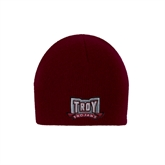 Maroon Knit Beanie-Troy Trojans Wide Shield