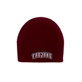 Maroon Knit Beanie-Arched Trojans