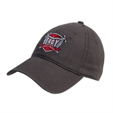 Charcoal Twill Unstructured Low Profile Hat-Troy Trojans Shield