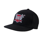 Black OttoFlex Flat Bill Pro Style Hat-Troy Trojans Shield