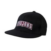 Black OttoFlex Flat Bill Pro Style Hat-Arched Trojans