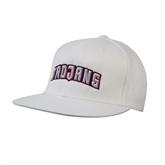 White OttoFlex Flat Bill Pro Style Hat-Arched Trojans