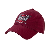 Cardinal Twill Unstructured Low Profile Hat-Troy Trojans Shield