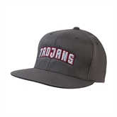 Charcoal Flexfit Flat Bill Pro Style Hat-Arched Trojans