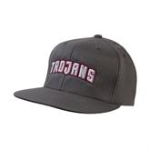 Charcoal Flexfit Flat Bill Pro Style Hat-Arched Trojans